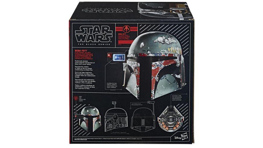 Hasbro Star Wars The Black Series Boba Fett elektronischer Helm Star Wars Das Imperium schlaegt zurueck Rollenspielprodukt