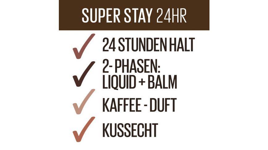 MAYBELLINE NEW YORK Lippenstift Super Stay 24H COFFEE