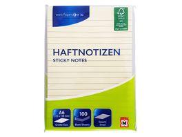 PAPERZONE Haftnotizen liniert gelb 105 x 148mm 100 Blatt