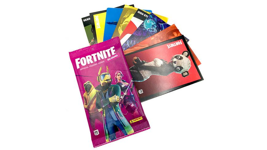 Panini Fortnite Reloaded Trading Cards Flowpack mit 8 Cards