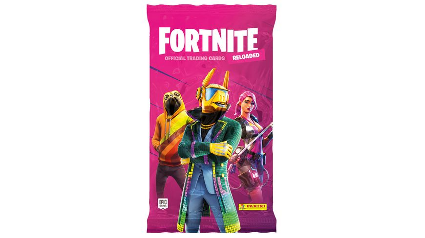 Panini Fortnite Reloaded Trading Cards - Flowpack mit 8 Cards