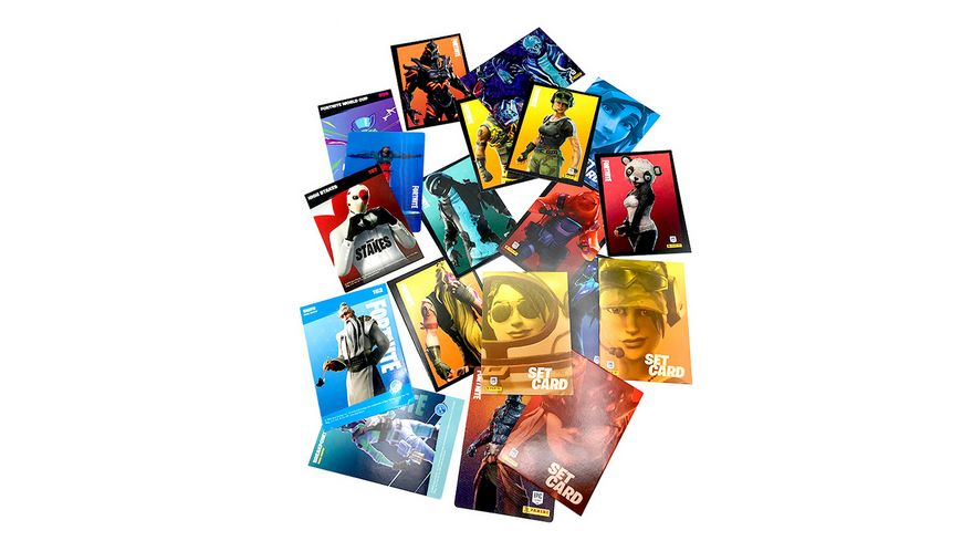 Panini Fortnite Reloaded Trading Cards Fatpack mit 24 Cards und 2 Bonus Cards