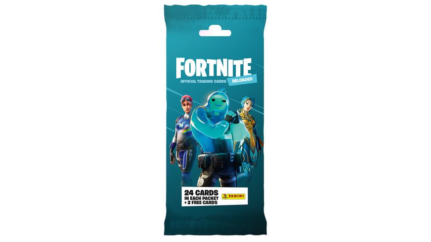 Panini Fortnite Reloaded Trading Cards - Fatpack mit 24 Cards und 2 Bonus Cards