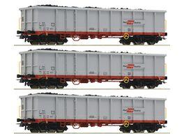 Roco 76082 3 tlg Set Offene Gueterwagen OeBB