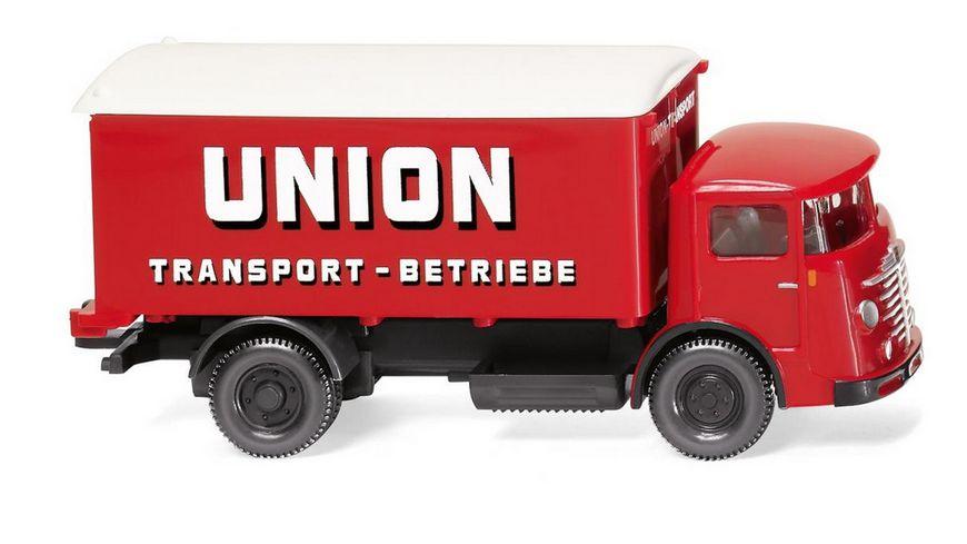 WIKING 047603 1 87 Koffer Lkw Buessing 4500 Union Transport