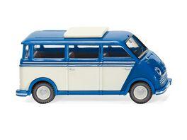 WIKING 033402 1 87 DKW Schnelllaster Bus blau perlweiss