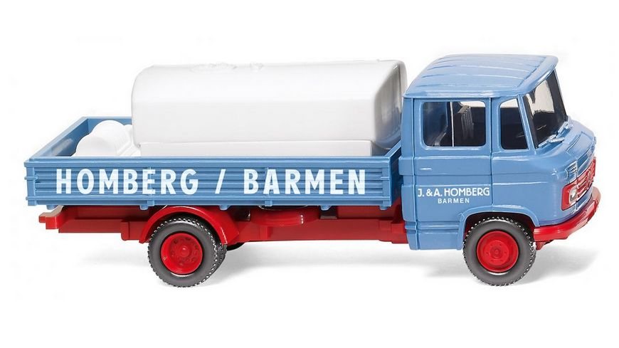 """WIKING 027102 -  1:87 Pritschenwagen mit Aufsetztank (MB L 408) """"Homberg"""""""