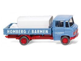 WIKING 027102 1 87 Pritschenwagen mit Aufsetztank MB L 408 Homberg