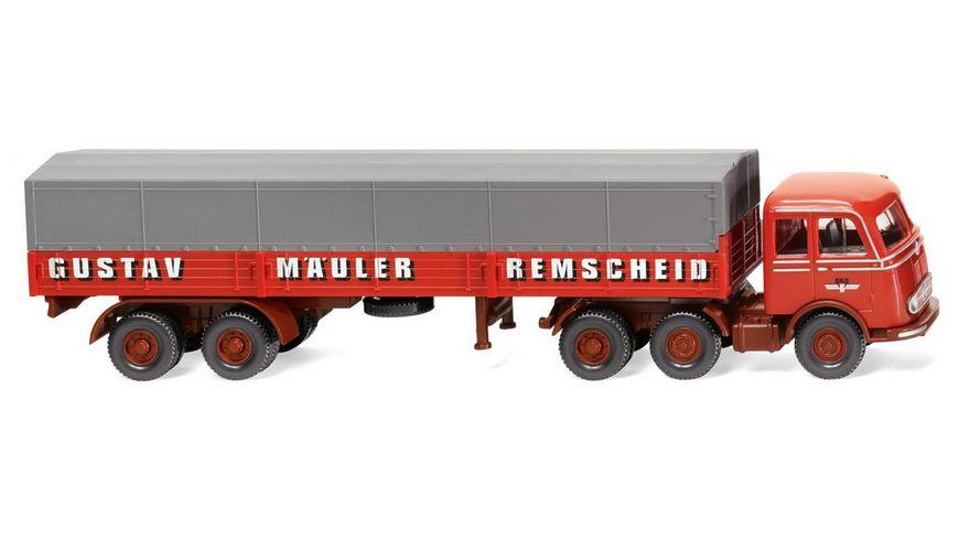 WIKING 048804 1 87 Pritschensattelzug MB LPS333 Spedition Gustav Maeuler