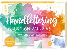 Handlettering Design Paper Block Watercolor Effekte A5