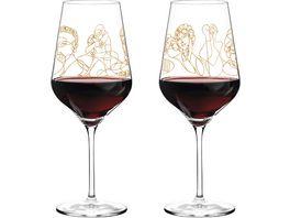 RITZENHOFF Rotweinglas von Burkhard Neie 2er Set