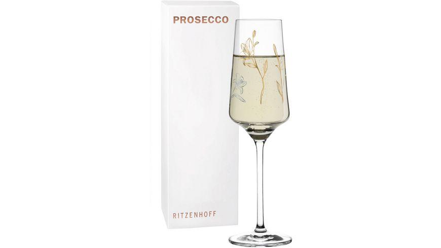 RITZENHOFF Prosecco Proseccoglas von Marvin Benzoni Lilie