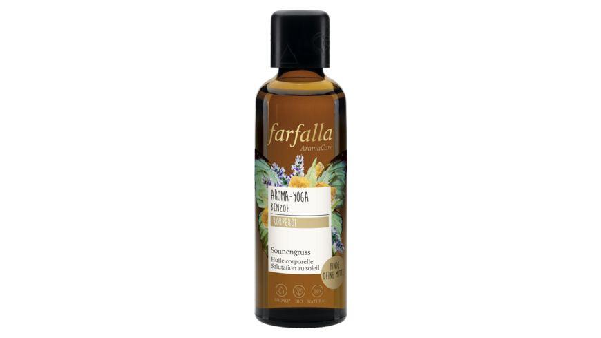 Farfalla Aroma-Yoga BenzoeSonnengrussKörperöl