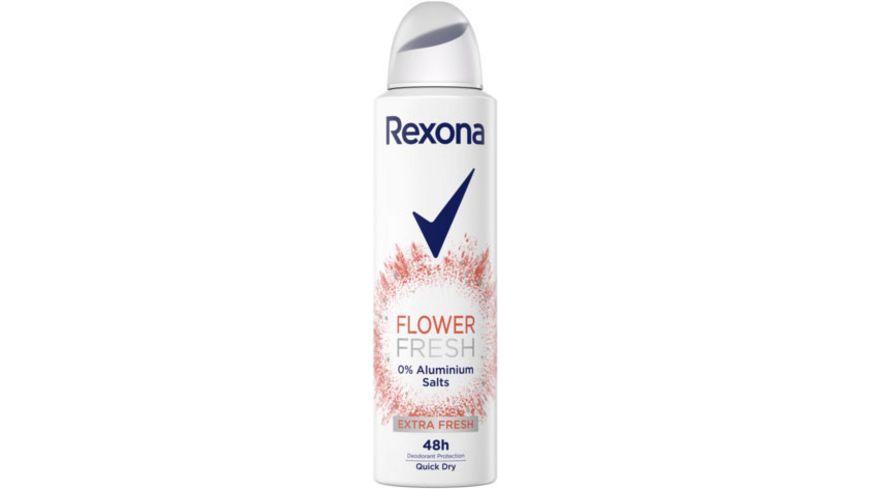 Rexona Deospray Flower Fresh 0% Aluminiumsalze für 48 Stunden Schutz