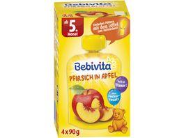 Bebivita Beikost Fruchtbrei Pfirsich in Apfel