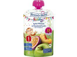 Beauty Baby Quetschie kiddys Bio Apfel Pfirsich Passionsfrucht