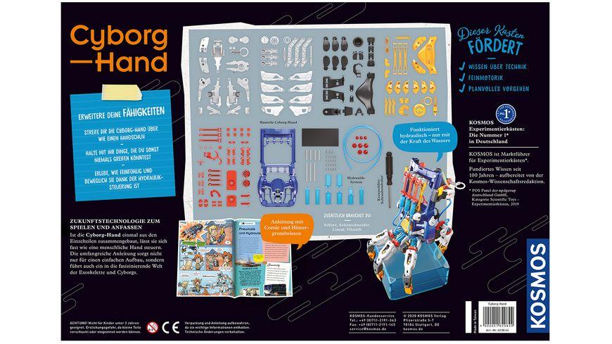 KOSMOS Experimentierkasten Cyborg Hand Deine XXL Hydraulik Hand