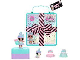 L O L SURPRISE Deluxe Present Surprise mit Limited Edition Sprinkles Puppe und Haustier smaragdgruen