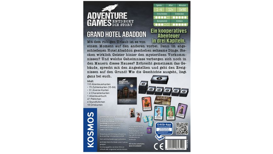 KOSMOS Adventure Games Grand Hotel Abaddon