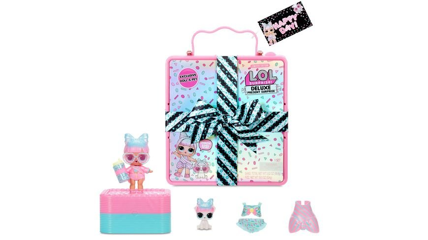 L O L SURPRISE Deluxe Present Surprise mit Limited Edition Miss Par tay Puppe and Haustier Pink