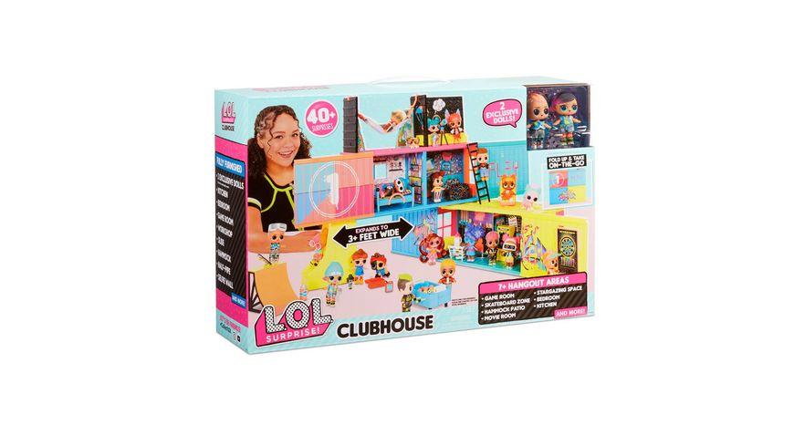 L O L SURPRISE Clubhaus Spielset mit mehr als 40 Ueberraschungen und 2 exklusiven Puppen