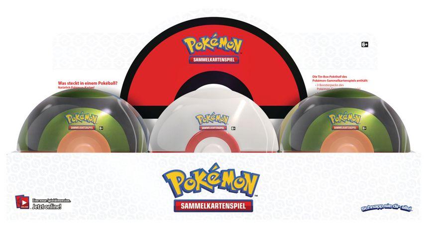 Pokemon Sammelkartenspiel Pokeball Tin Sommer 2020 DE sortiert