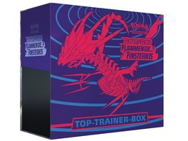 Pokemon Sammelkartenspiel Schwert Schild Flammende Finsternis Top Trainer Box DE