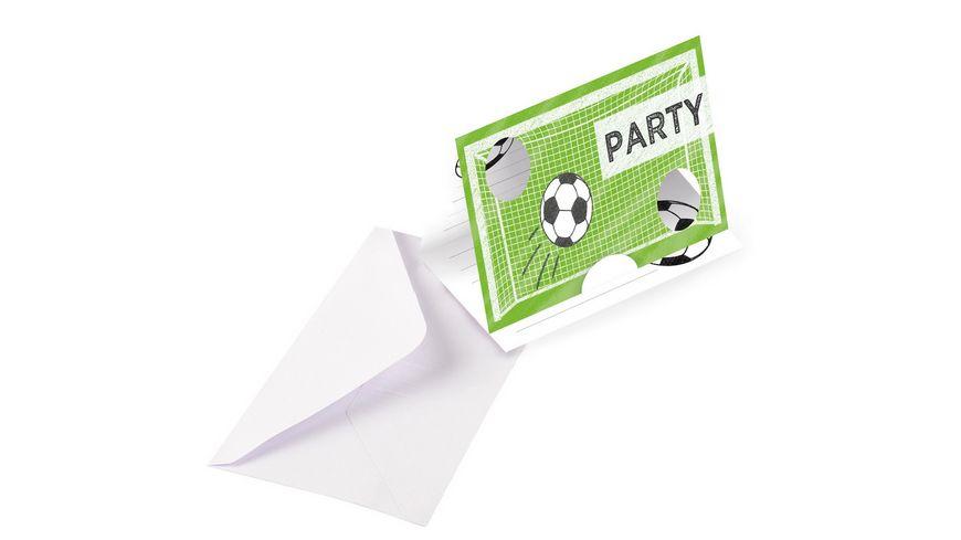 amscan - 8 einladungskarten & umschläge kicker party