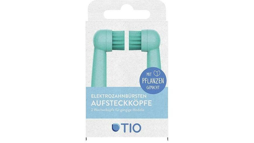 TIO Tiomatik Aufsatz fuer elektrische Zahnbuersten 2er Pack in Gletscher und Koralle