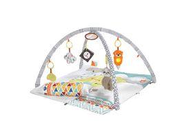 Fisher Price 5 Sinnes Spieldecke Krabbeldecke mit Spielbogen Babydecke