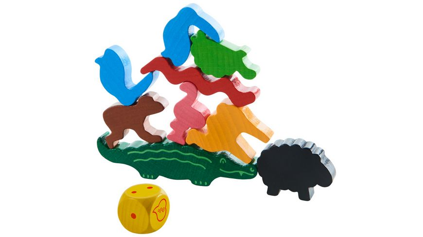 HABA Tier auf Tier Das wackelige Stapelspiel