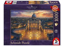 Schmidt Spiele Erwachsenenpuzzle Vatikan Thomas Kinkade 1000 Teile