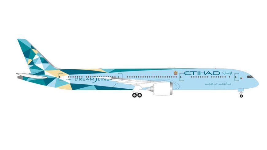 """Herpa 534420 - Etihad Airways """"Greenliner"""" Beoing 787-10 Dreamliner"""