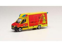 Herpa 095440 Mercedes Benz Sprinter 18 Fahrtec RTW DRK Juist