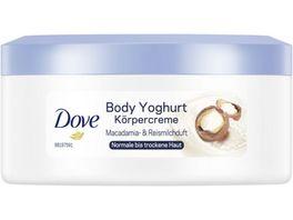Dove Body Yoghurt Koerpercreme mit Macadamia Reismilchduft