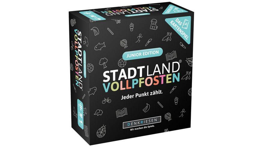 Denkriesen - STADT LAND VOLLPFOSTEN – Das Kartenspiel – Junior Edition