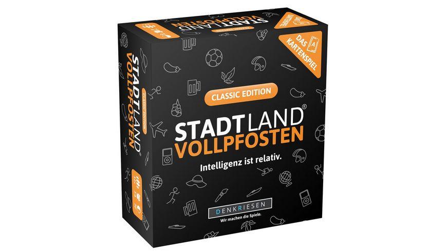 Denkriesen - STADT LAND VOLLPFOSTEN – Das Kartenspiel – Classic Edition