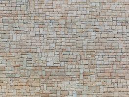 NOCH 56642 H0 3D Kartonplatte Kalksteinmauer