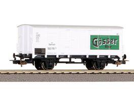 PIKO 58948 Gueterwagen der Gattung G 02 mit Speichenraedern als Bierwagen Goesser
