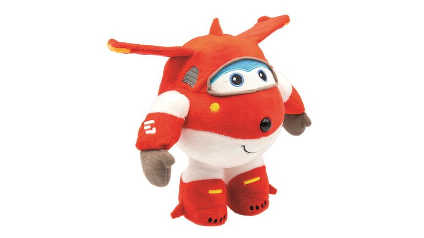 Joy Toy - Super Wings - Plüschfigur Jett, 20 cm