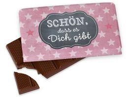 Geschenk fuer Dich Schokolade Schoen dass Stern