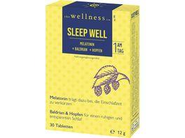 The Wellness Co Sleep Well Melatonin Baldrian Hopfen
