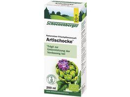 Schoenenberger Artischocke Naturreiner Heilpflanzensaft