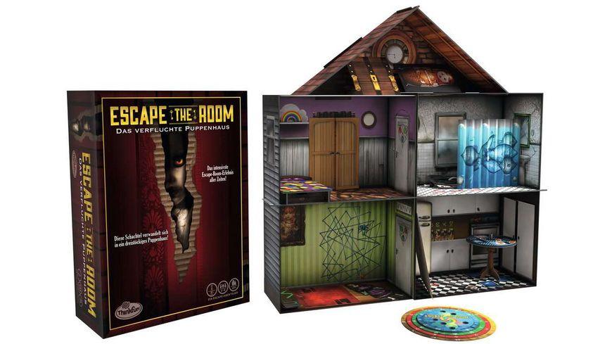 ThinkFun - Escape the Room - Das verfluchte Puppenhaus, die Exit-Erfahrung für zuhause! Das Party-Event, nicht unbedingt für die jungen Familienmitglieder, leichter Gruselfaktor inklusive!
