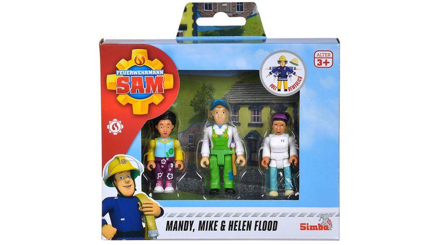 Simba Feuerwehrmann Sam Familie Flood Figuren Set