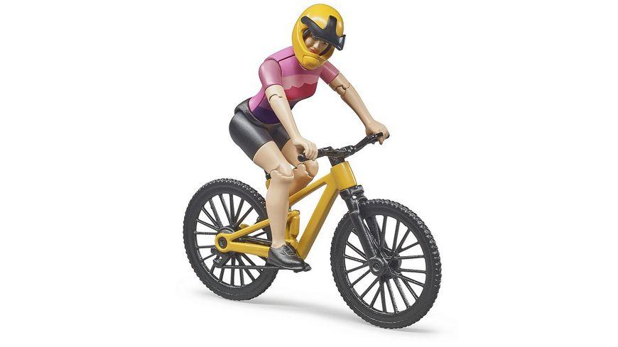 BRUDER bworld Mountainbike mit Radfahrerin 63111