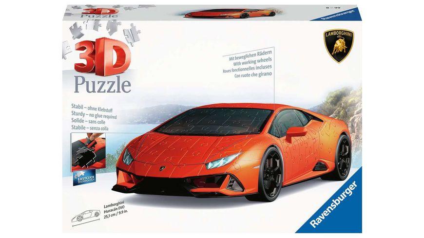 Ravensburger Puzzle - 3D Puzzles - Lamborghini Huracán EVO, 108 Teile