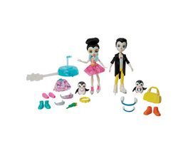 Mattel Enchantimals Eiskunstlaeufer Spielset mit Patterson Penguin Preena Penguin Puppen