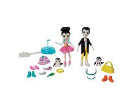 Mattel Enchantimals GJX49 Eiskunstlaeufer Spielset mit Patterson Penguin Preena Penguin Puppen