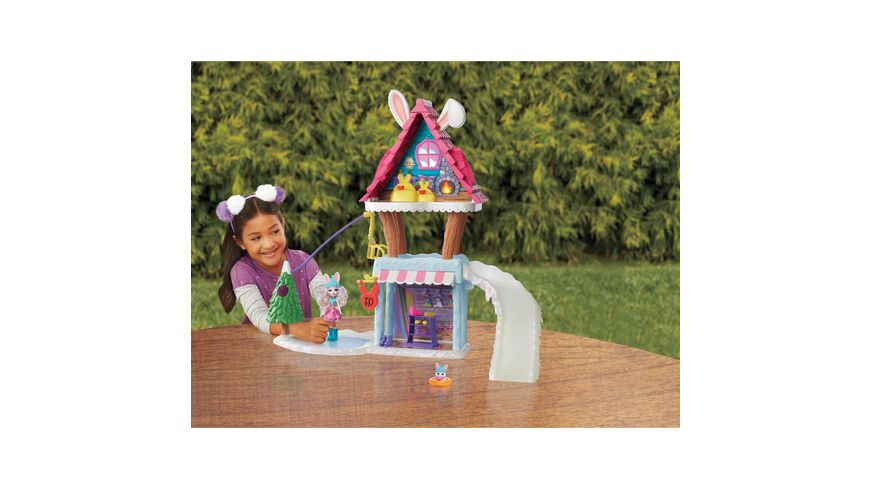 Mattel Enchantimals Hasen Skihuette mit Bevy Bunny Jump